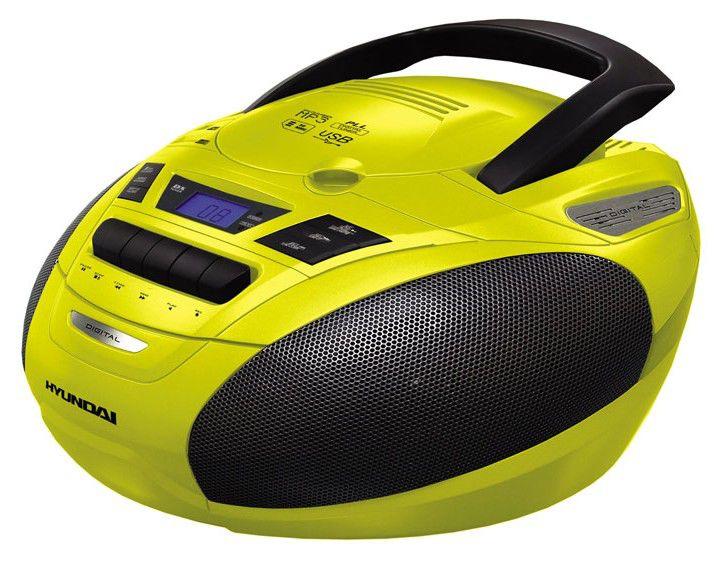 Аудиомагнитола HYUNDAI H-1416,  желтый