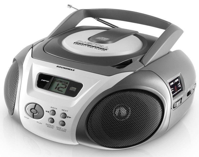 Аудиомагнитола SOUNDMAX SM-2405,  белый