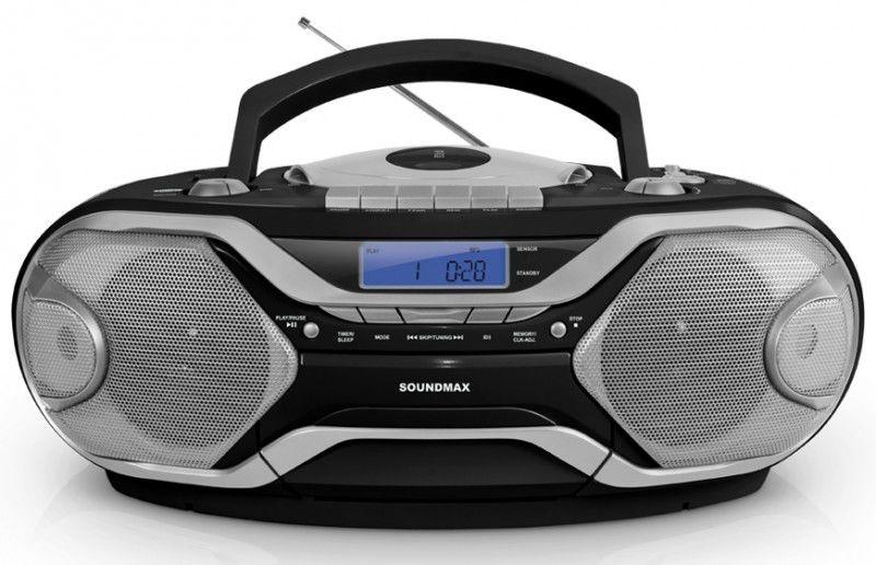 Аудиомагнитола SOUNDMAX SM-2402,  черный