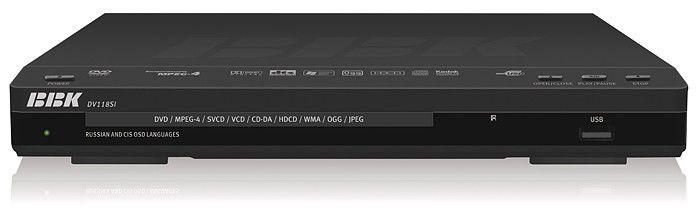 DVD-плеер BBK DV118SI,  черный