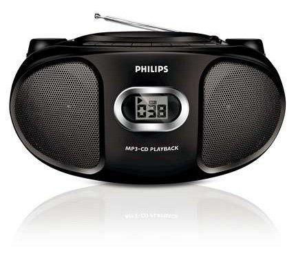 Аудиомагнитола PHILIPS AZ-302/12,  черный