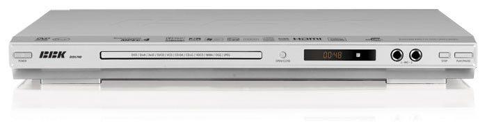 DVD-плеер BBK DV917HD,  серебристый,  диск 500 песен