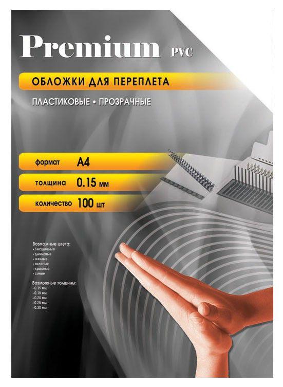 Обложка OFFICE KIT PCA400150,  A4,  150мкм,  100,  прозрачный