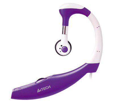 Моно гарнитура A4 HS-12-5,  накладные, фиолетовый  [hs-12-5 (purple)]
