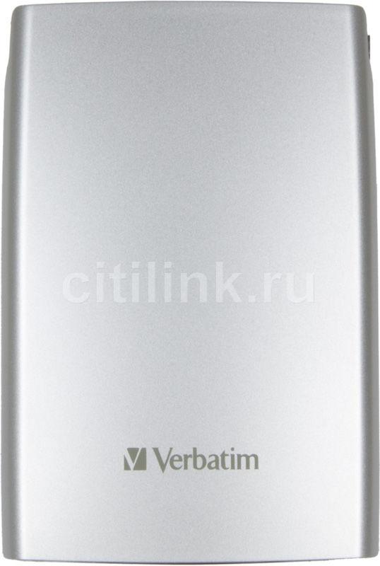 Внешний жесткий диск VERBATIM Store n Go 320Гб, серебристый [53001]