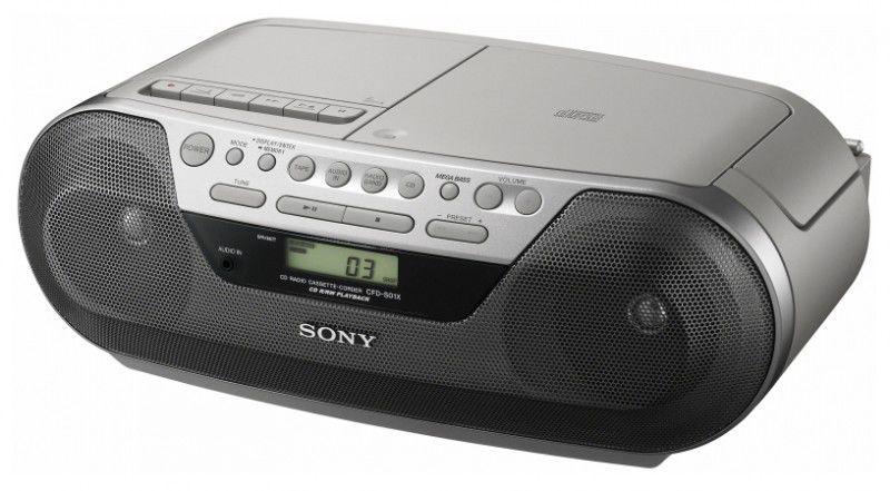 Аудиомагнитола SONY CFD-S05,  серебристый