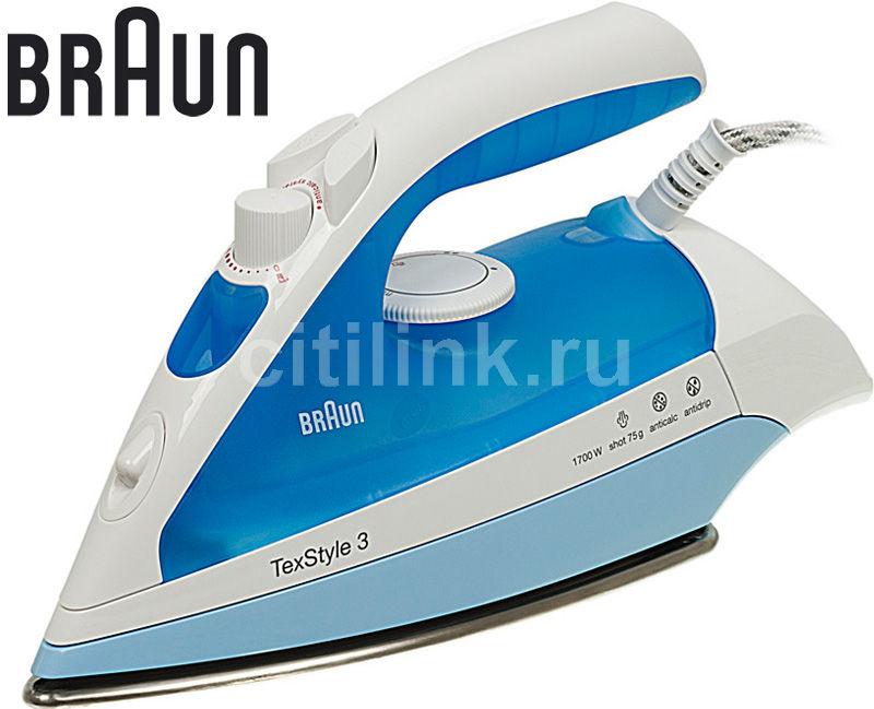 Утюг BRAUN SI 340/2040,  1700Вт,  синий [si340/2040]
