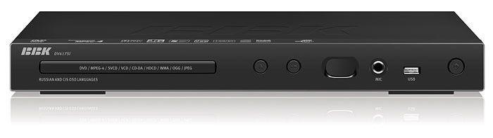 DVD-плеер BBK DV417SI,  черный,  диск 500 песен