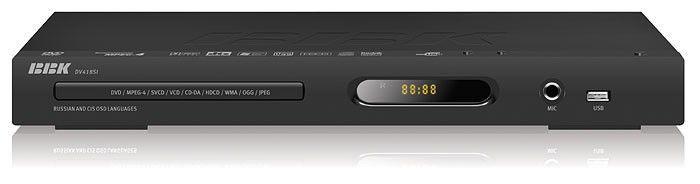 DVD-плеер BBK DV418SI,  черный,  диск 500 песен
