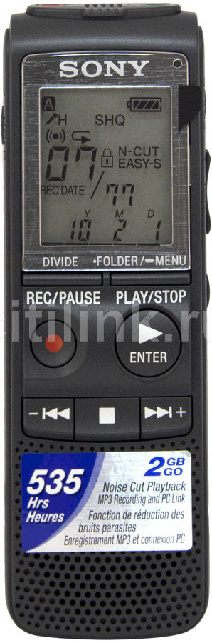 Диктофон SONY ICD-PX820 2 Gb,  черный [icdpx820.ce7]