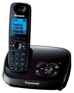 Радиотелефон PANASONIC KX-TG6521RUT,  темно-серый металлик