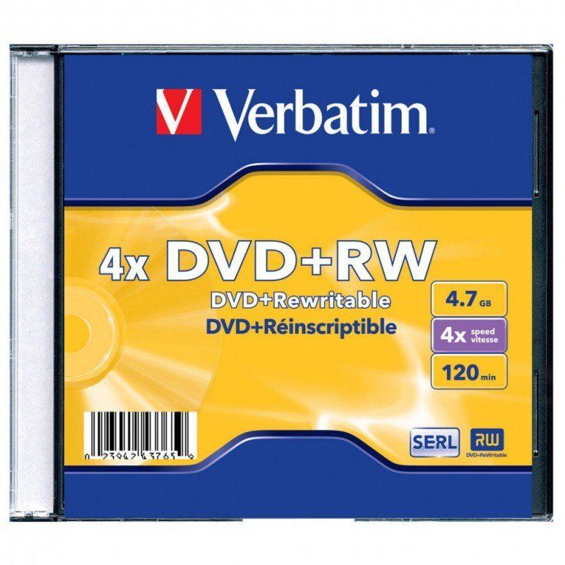 Оптический диск DVD+RW VERBATIM 4.7Гб 4x, 1шт., jewel case [43228/43229/43246]