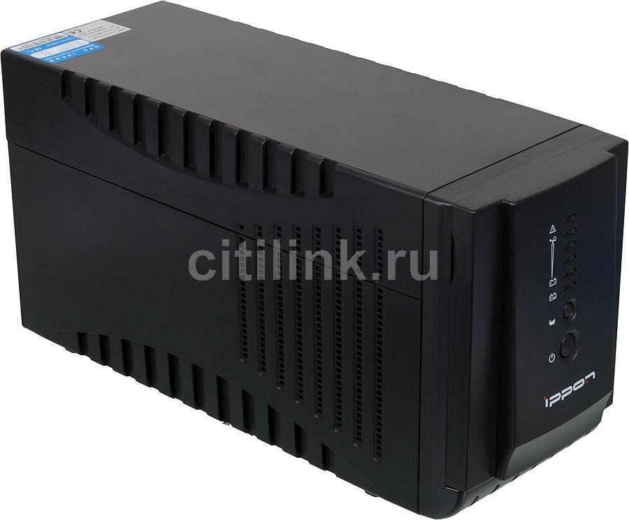 Источник бесперебойного питания Ippon Smart Power Pro 1000 black (плохая упаковка)
