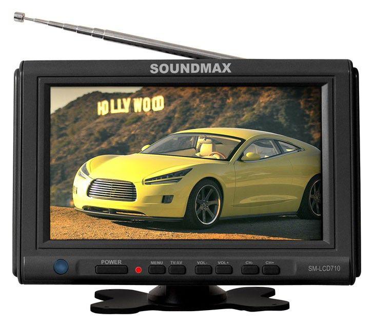 Автомобильный портативный телевизор SOUNDMAX SM-LCD710,  7