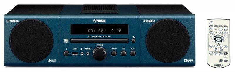 Музыкальный центр YAMAHA MCR-040,  темно-синий