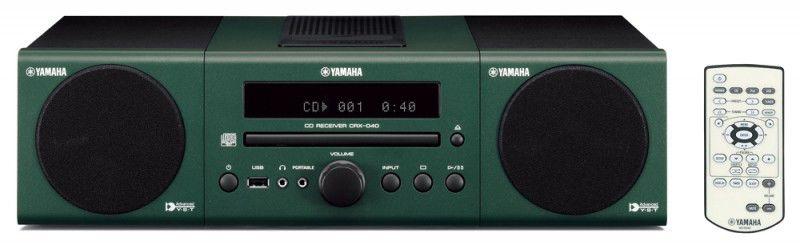 Музыкальный центр YAMAHA MCR-040,  темно-зеленый