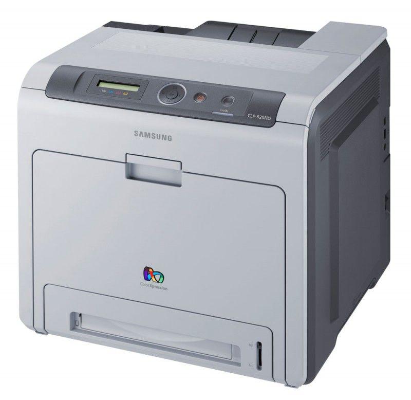 Принтер SAMSUNG CLP-620ND/XEV лазерный, цвет:  серый