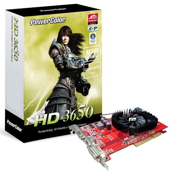 Видеокарта POWERCOLOR Radeon HD 3650,  1Гб, DDR2, oem [ag3650 1gbd2-v2]