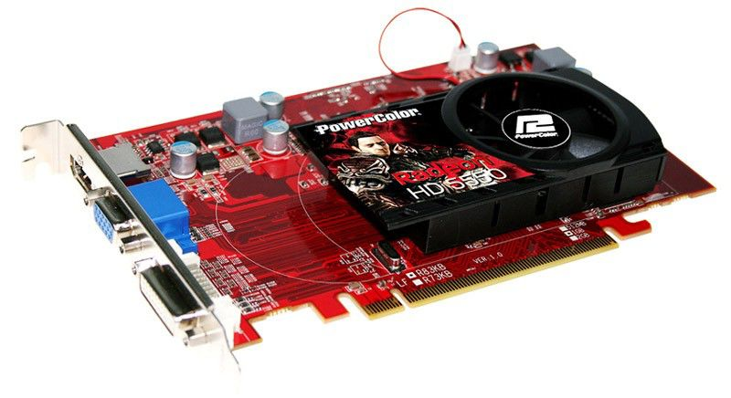 Видеокарта POWERCOLOR Radeon HD 5550,  1Гб, DDR3, oem [ax5550 1gbk3-h]
