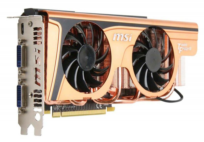 Видеокарта MSI N465GTX Twin Frozr II GE,  1Гб, GDDR5, Ret