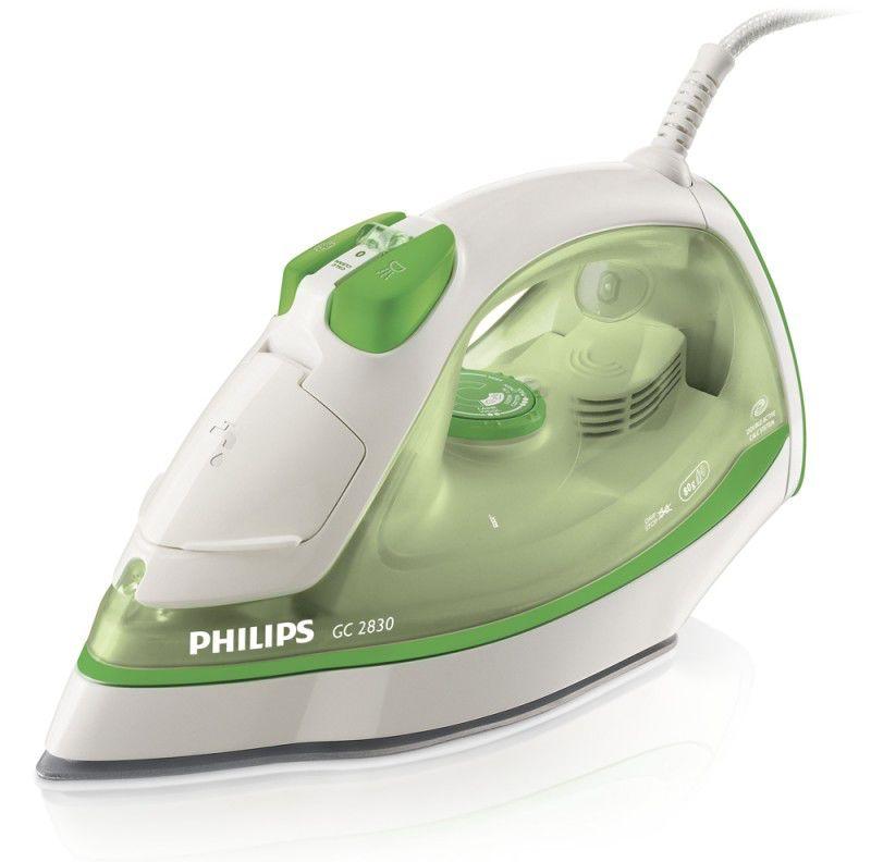Утюг PHILIPS GC2830,  2100Вт,  зеленый/ белый