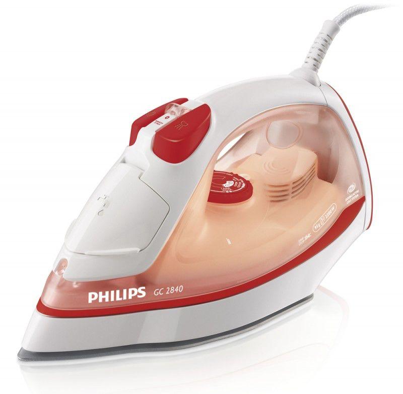 Утюг PHILIPS GC2840,  2200Вт,  оранжевый/ белый