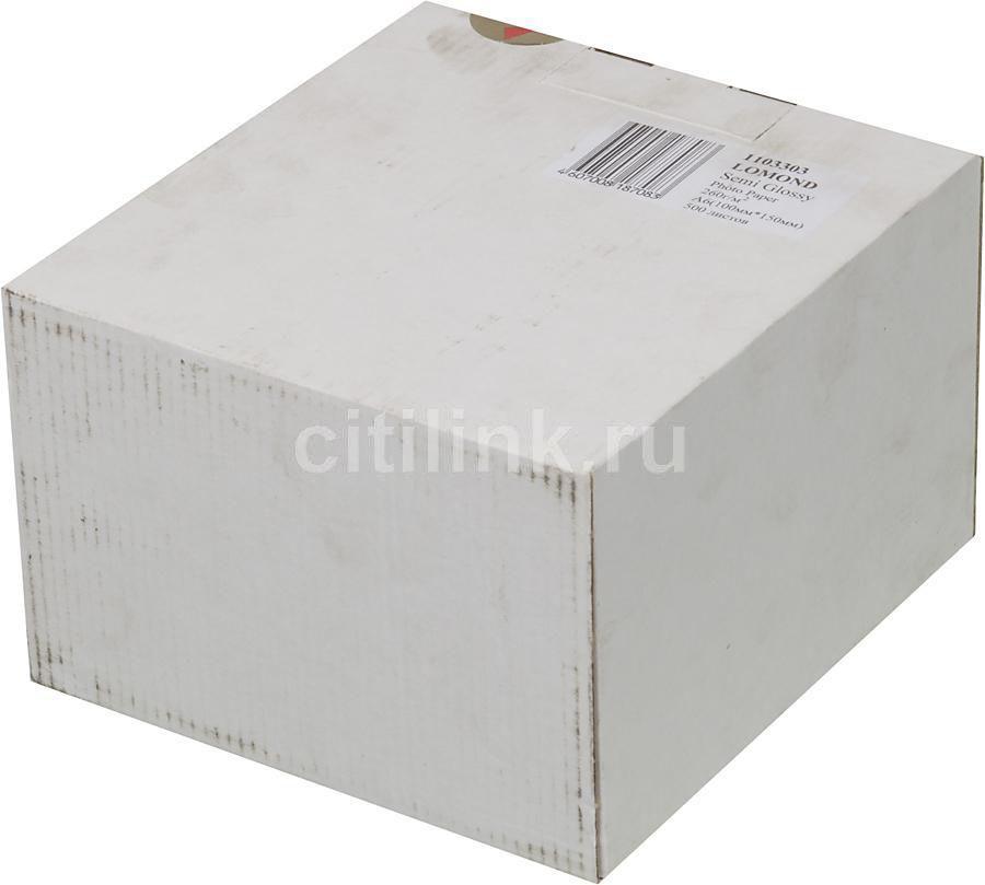 (ДУБЛЬ) Фотобумага Lomond 1103303 10x15/260г/м2/500л./ярко-белый полуглянцевое для струйной печати [дубль использовать 65732]