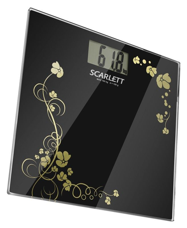 Весы SCARLETT SC218, до 180кг, цвет: черный