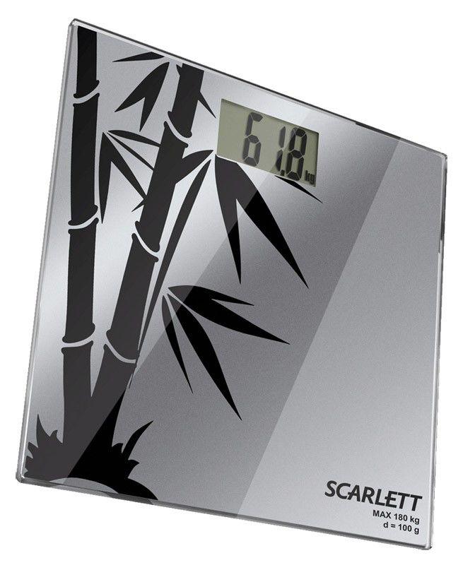 Весы SCARLETT SC218, до 180кг, цвет: серебристый