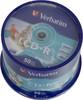 Оптический диск CD-R VERBATIM 700Мб 52x, 50шт., cake box, printable [43309] вид 1