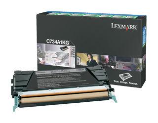 Картридж LEXMARK C734A1KG черный