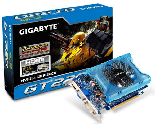 Видеокарта GIGABYTE GeForce GT 220,  1Гб, DDR3, Ret [gv-n220tc-1gi]
