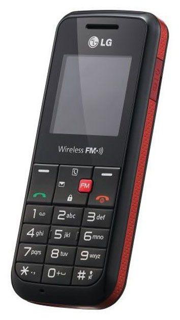 Мобильный телефон LG GS 107  красный