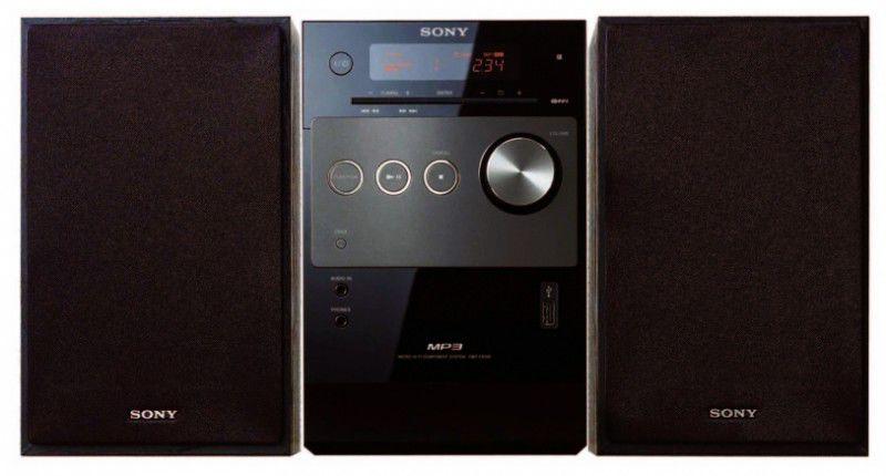 Музыкальный центр SONY CMT-FX205,  черный