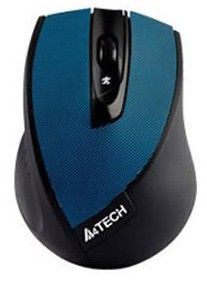 Мышь A4 G9-600-2 оптическая беспроводная USB, синий