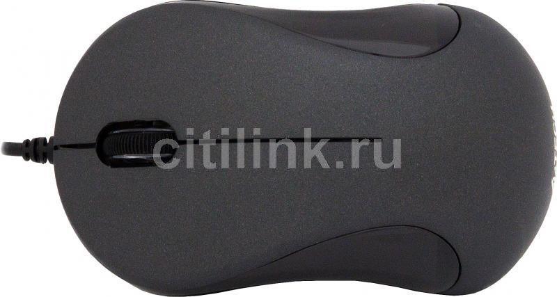 Мышь A4 Q3-321-1 оптическая проводная USB, черный [q3-321-1 bk]