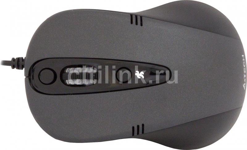 Мышь A4 Q4-370X-1 оптическая проводная USB, черный