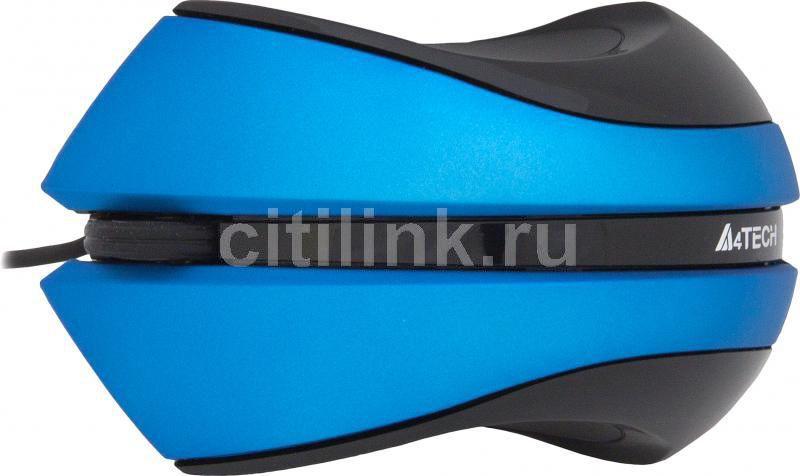 Мышь A4 Q3-310-3 оптическая проводная USB, голубой [q3-310-3 blue]