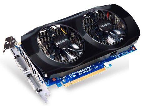 Видеокарта GIGABYTE GeForce GTX 460,  768Мб, GDDR5, OC,  Ret [gv-n460oc-768i]