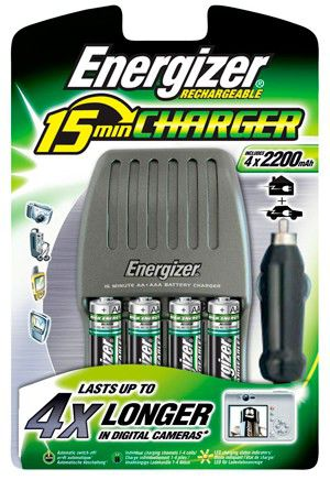 Аккумулятор + зарядное устройство ENERGIZER 4 шт. AA,  2200мAч