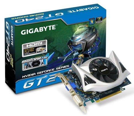 Видеокарта GIGABYTE GeForce GT 240,  512Мб, DDR5, oem [gv-n240d5-512i]