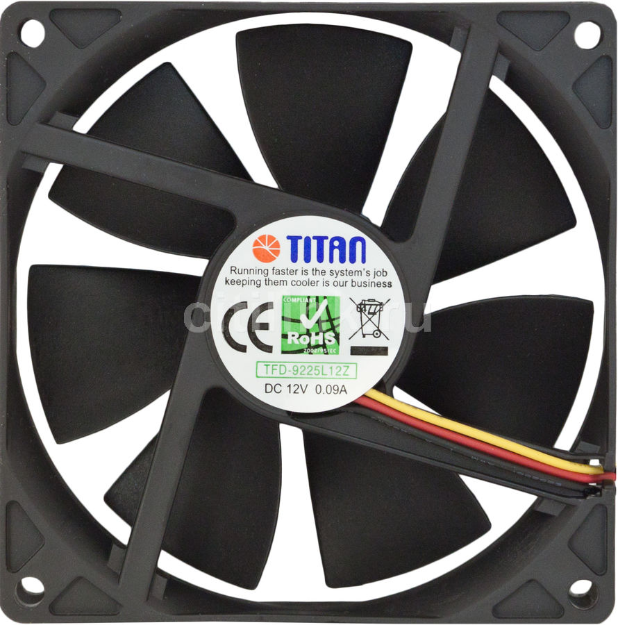 Вентилятор TITAN TFD-9225L12Z,  90мм, Ret