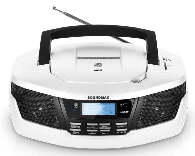 Аудиомагнитола SOUNDMAX SM-2406,  белый