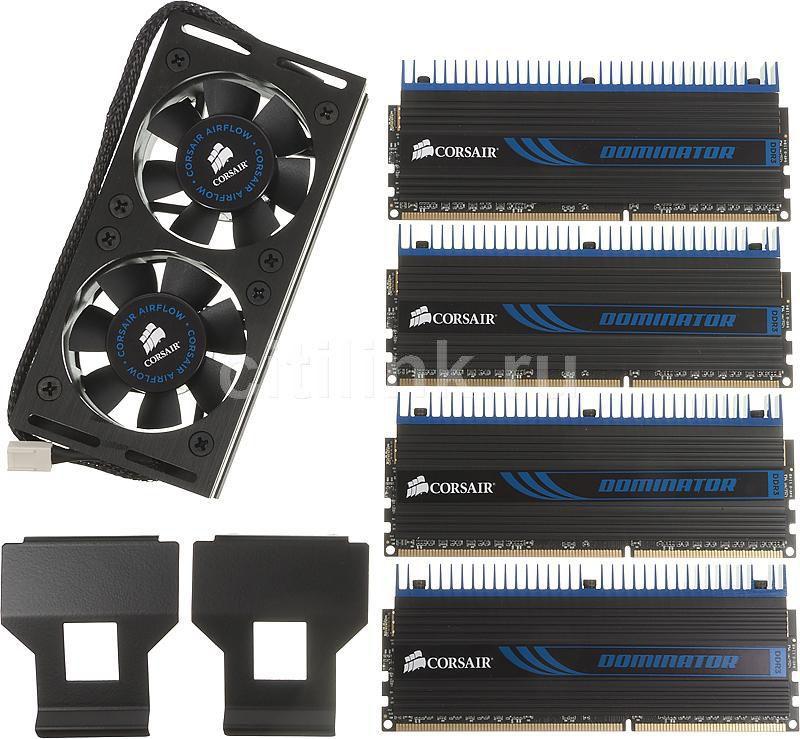 Модуль памяти CORSAIR DOMINATOR DHX+ CMP16GX3M4A1333C9 DDR3 -  4x 4Гб 1333, DIMM,  Ret