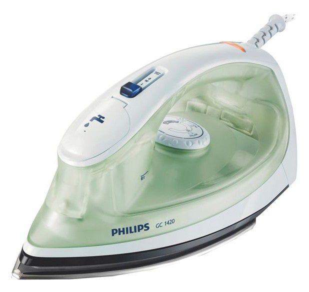 Утюг PHILIPS GC1420,  1200Вт,  зеленый/ белый