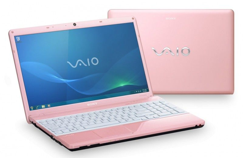Sony vaio laptop pink and white