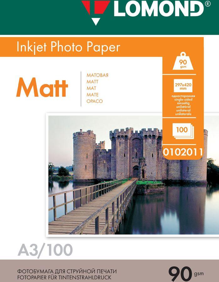 Бумага Lomond 0102011 A3/90г/м2/100л./белый матовое для струйной печати