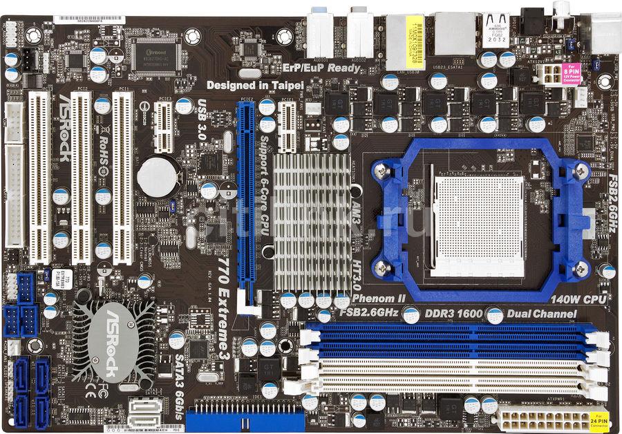Материнская плата ASROCK 770 EXTREME3, SocketAM3, AMD 770, ATX, Ret