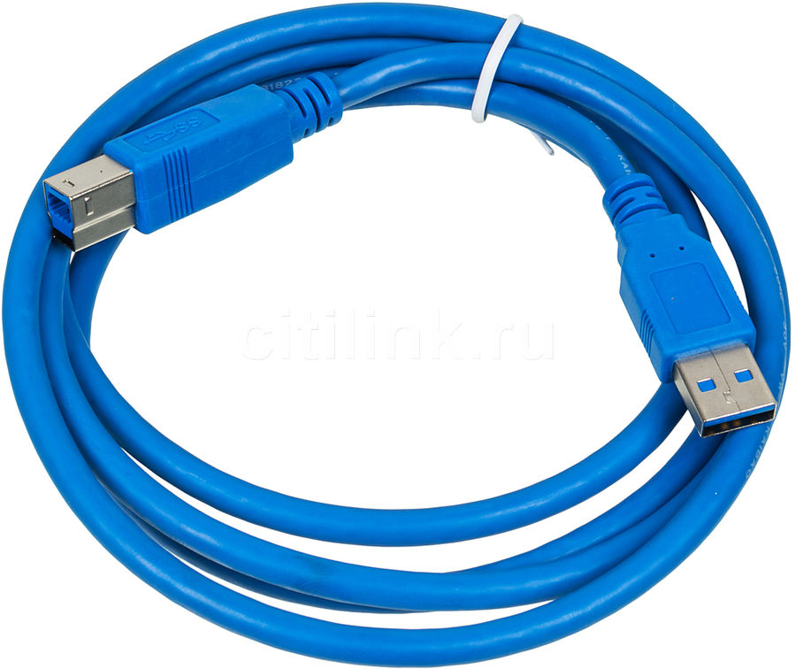 Кабель USB3.0 PC PET USB A(m) -  USB B(m),  1.5м,  блистер,  синий [usambm30-15]
