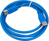 Кабель USB3.0 PC PET USB A(m) -  USB B(m),  1.5м,  блистер,  синий [usambm30-15] вид 1